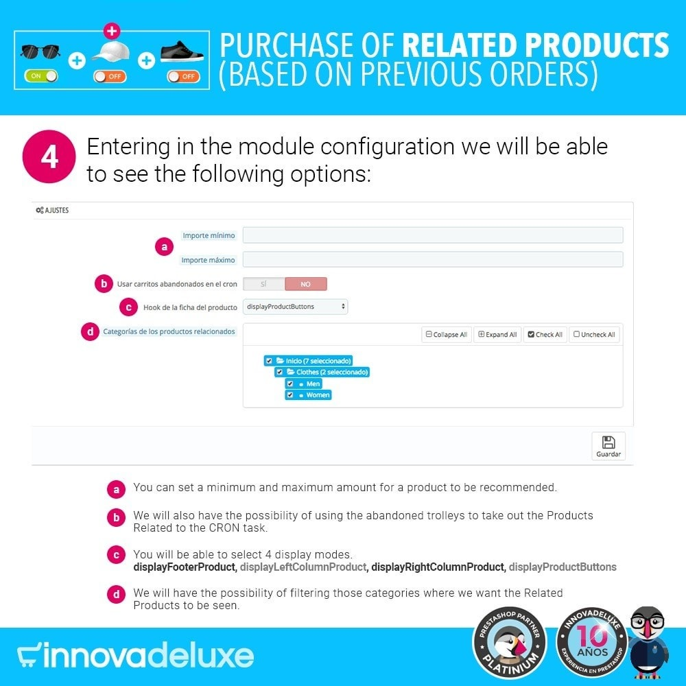module - Cross-selling & Product Bundles - Purchase of related products based on previous orders - 8