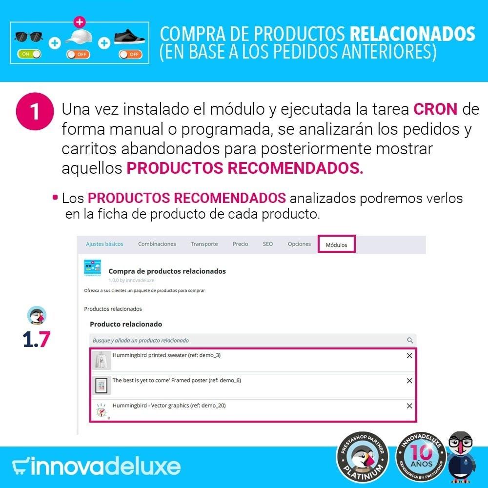 module - Ventas cruzadas y Packs de productos - Compra productos relacionados según pedidos anteriores - 2