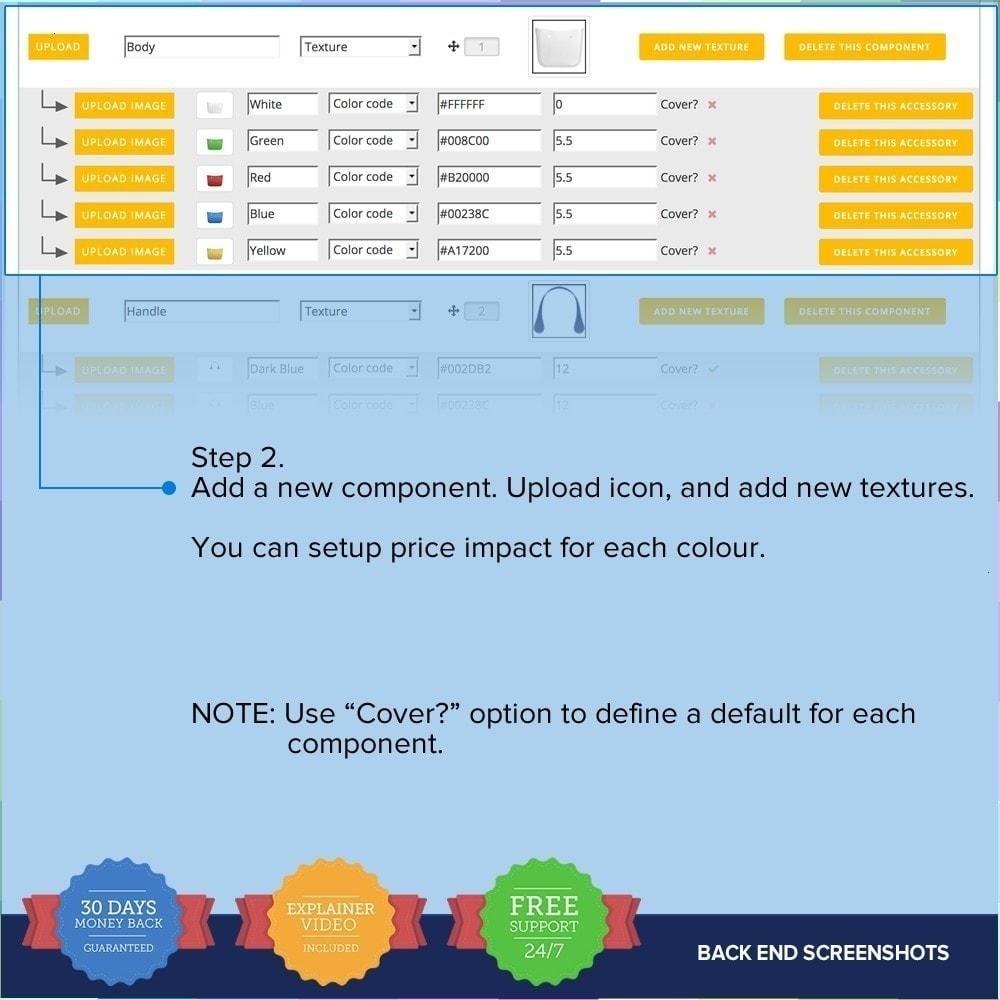 module - Déclinaisons & Personnalisation de produits - Product composer PRO - 14