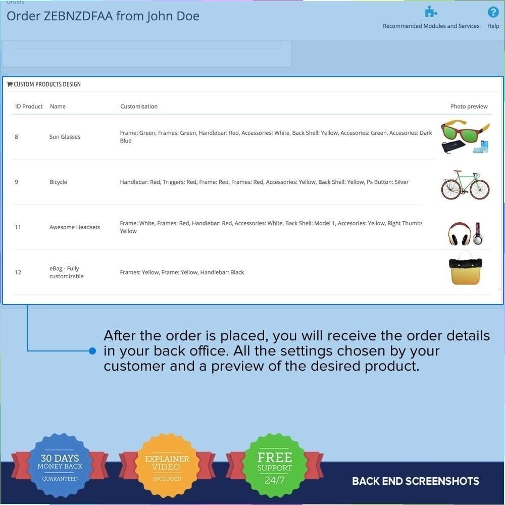 module - Combinazioni & Personalizzazione Prodotti - Compositore di Prodotti PRO - 12