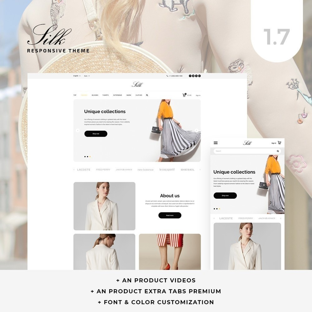 theme - Fashion & Shoes - Silk Fashion Store - 1