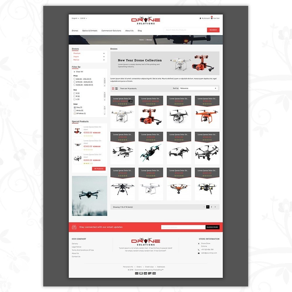 theme - Электроника и компьютеры - Drone Solutions Store - 3