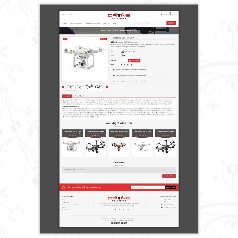 theme - Электроника и компьютеры - Drone Solutions Store - 5