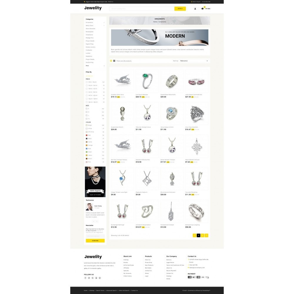 theme - Ювелирные изделия и Аксессуары - Jewelity - Jewelry Store - 3