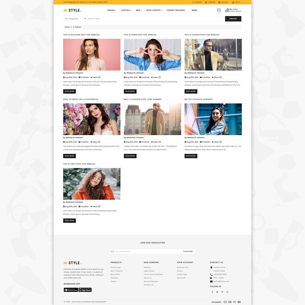 theme - Fashion & Shoes - InStyle Shop Store - 5