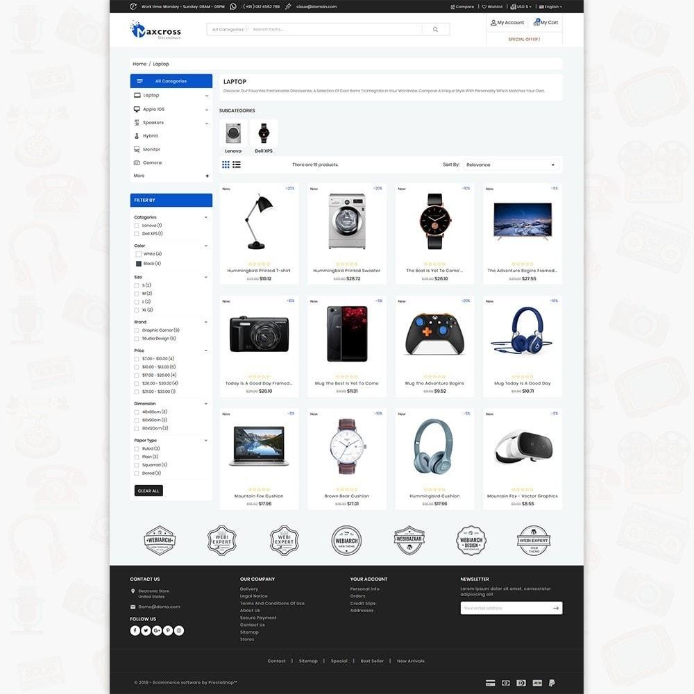 theme - Electronics & Computers - MaxCross - The ElectronicsMart - 3