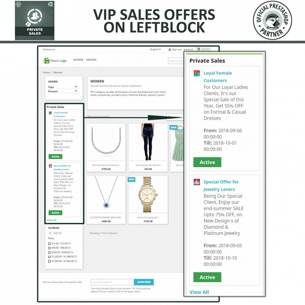 module - Vendas Privadas & Vendas Ultrarrápidas - Private Category & Private Sale for VIP Customer Groups - 3