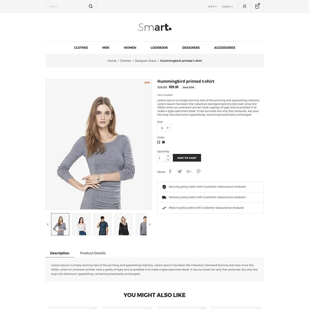 theme - Fashion & Shoes - Smart Designer - Fashion Store - 5