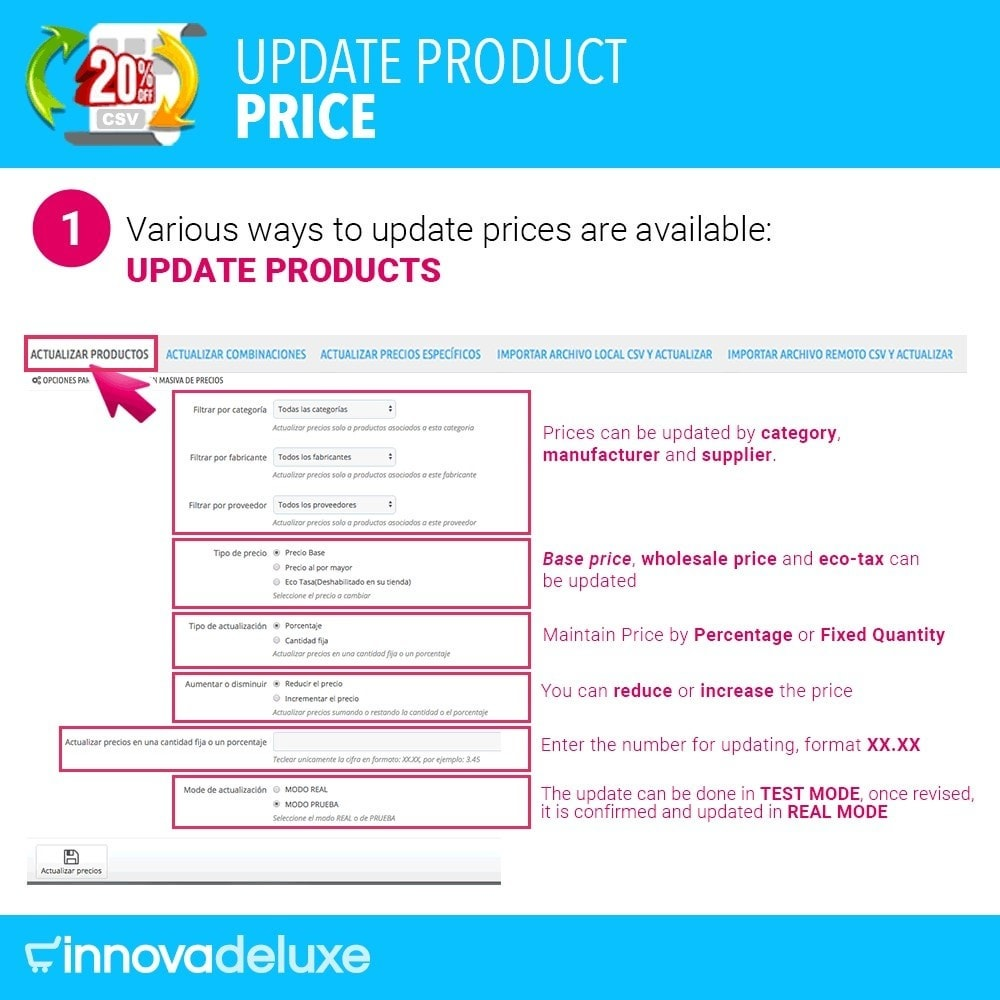 module - Fast & Mass Update - Product Price Updater - 2