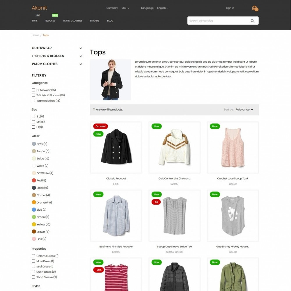 theme - Fashion & Shoes - Akonit Fashion Store - 6