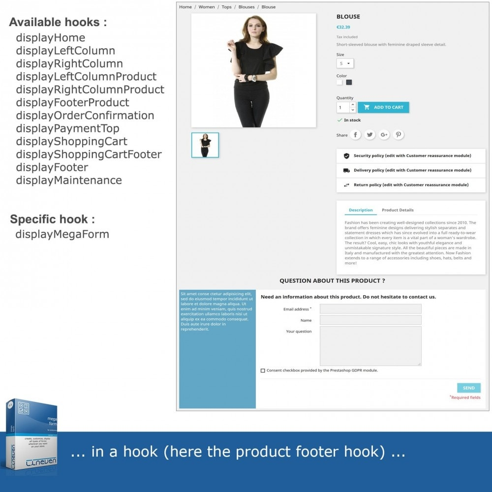module - Contact Forms & Surveys - Forms builder - Customizable & Threads - 3
