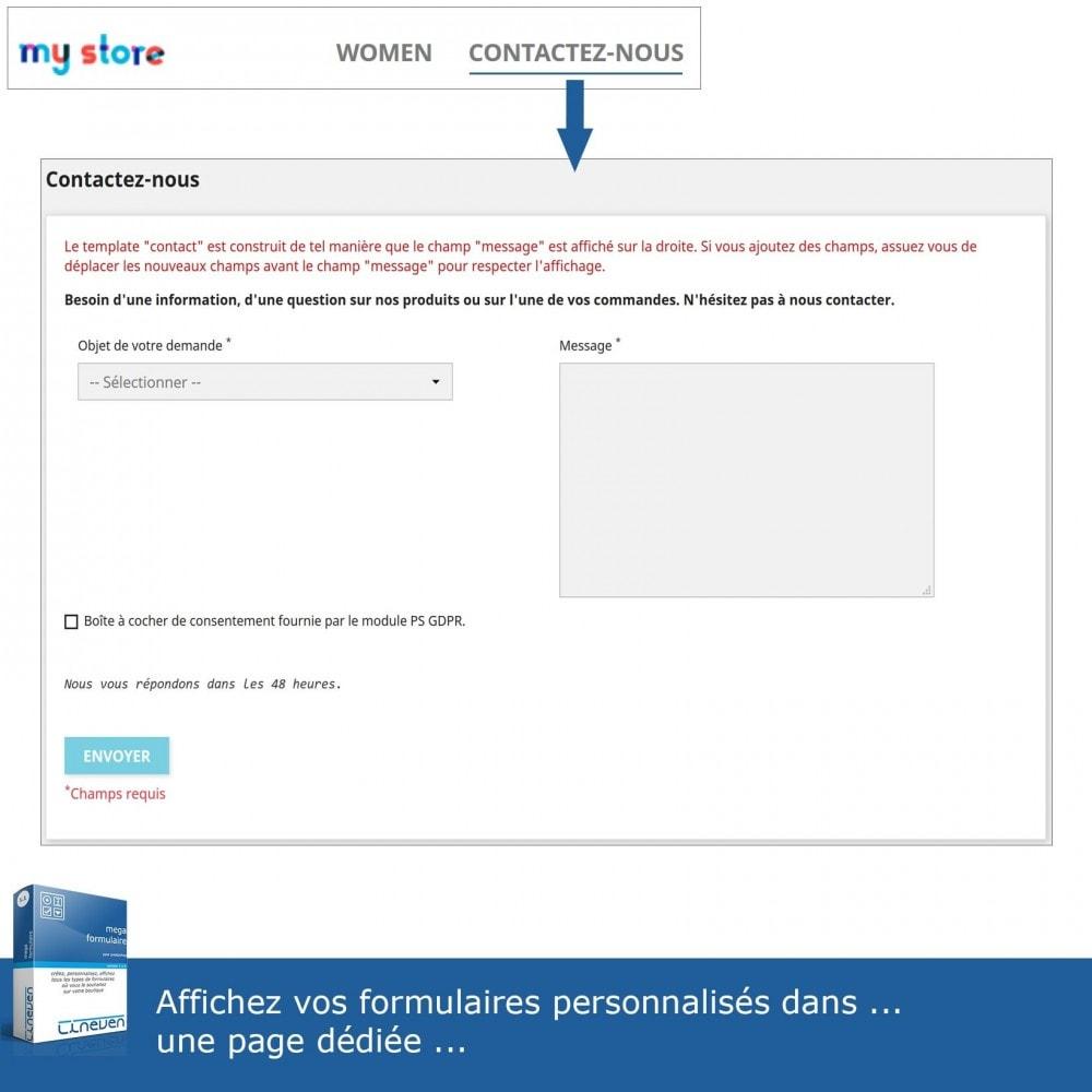module - Formulaires de Contact & Sondages - Générateur de formulaires avancés & Fils de discussions - 2