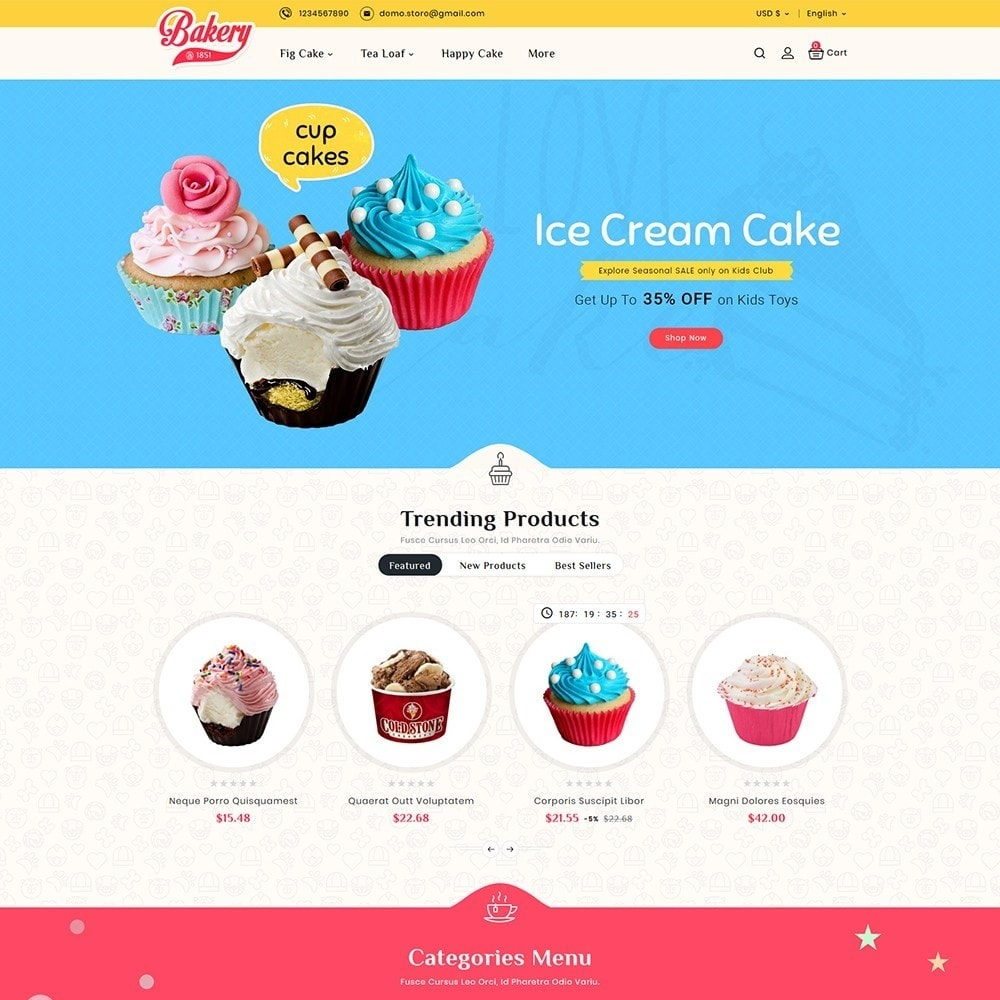 theme - Подарки, Цветы и праздничные товары - Cakery - Bakery Shop - 2