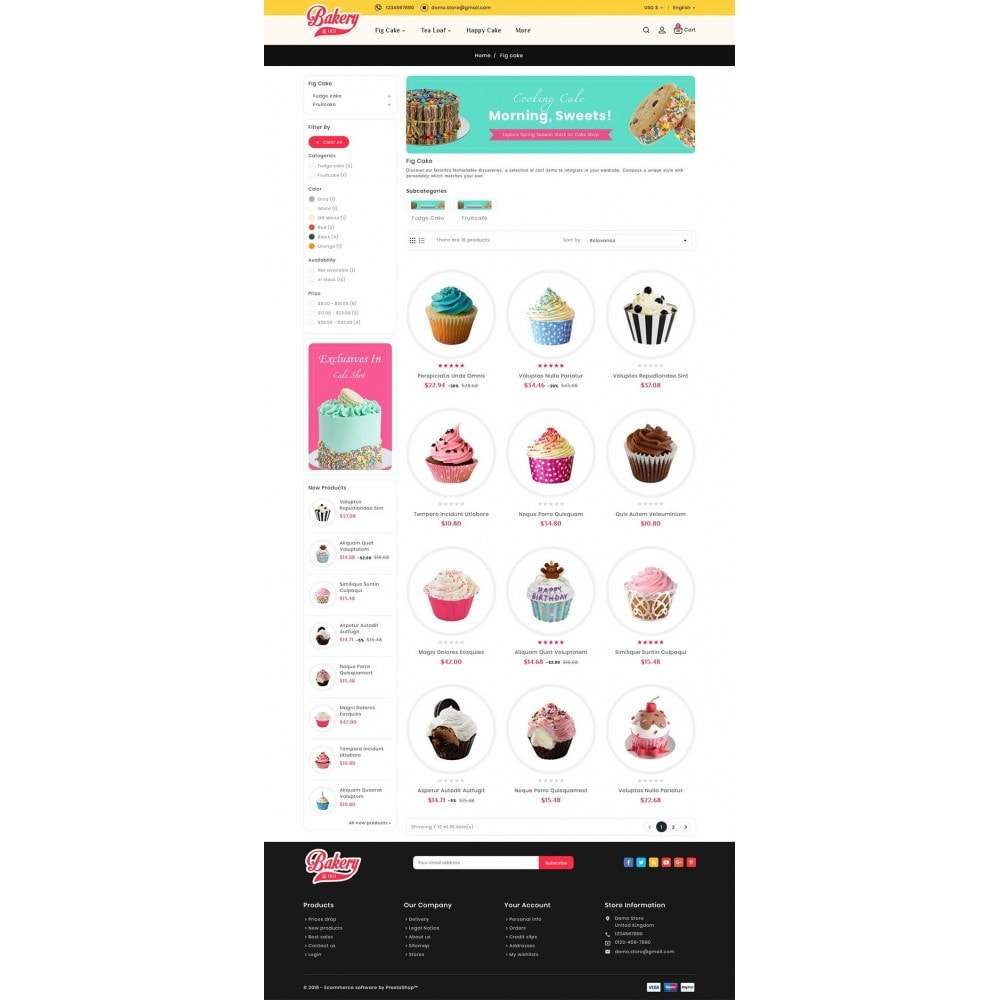 theme - Подарки, Цветы и праздничные товары - Cakery - Bakery Shop - 5