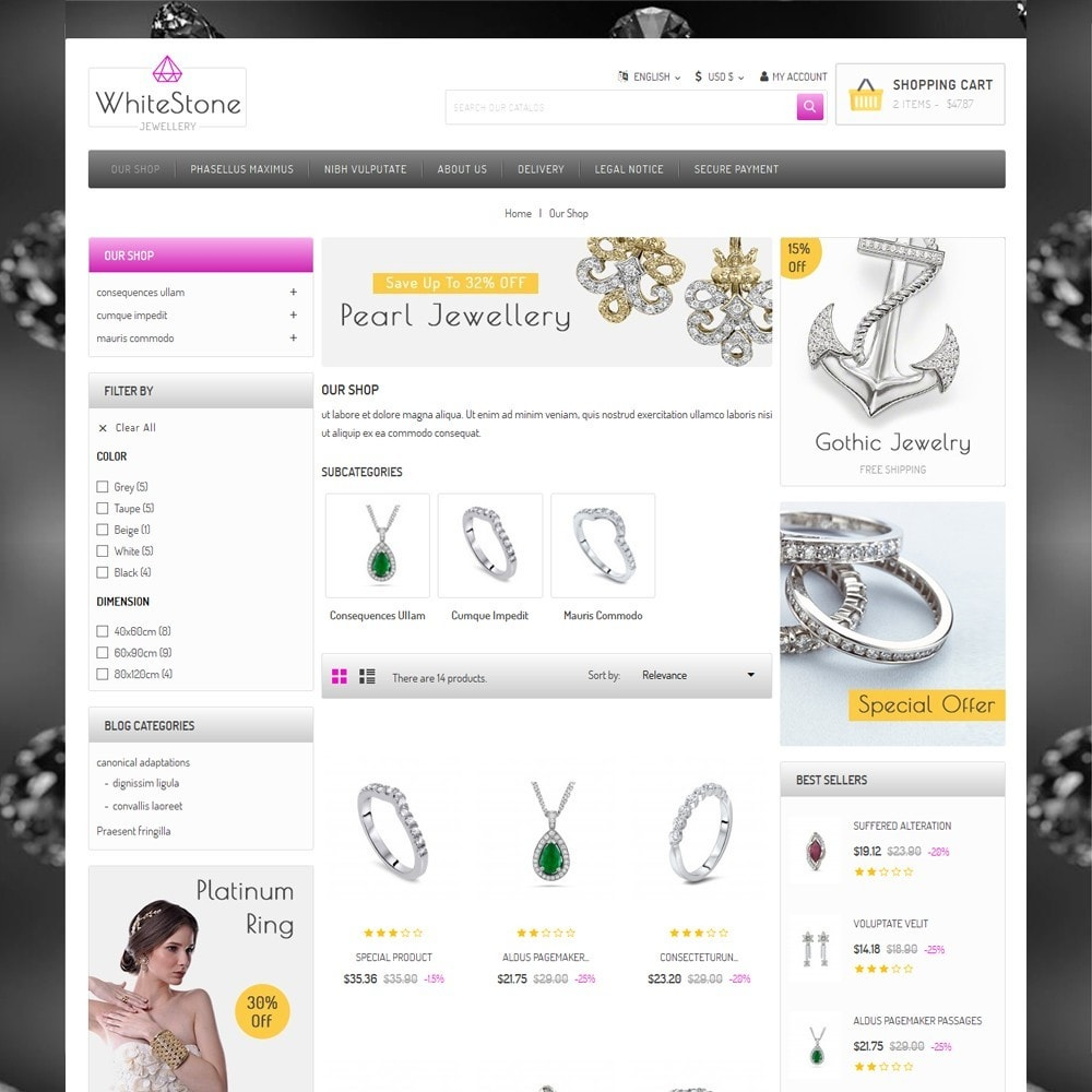 theme - Jewelry & Accessories - Whitestone  - The Jewelry Shop - 4