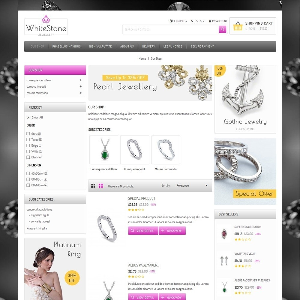 theme - Jewelry & Accessories - Whitestone  - The Jewelry Shop - 5