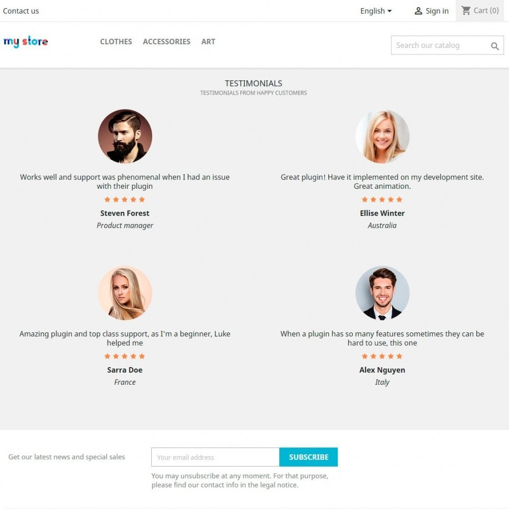 module - Avis clients - Testimonials and Reviews Slider & Blocks - 3