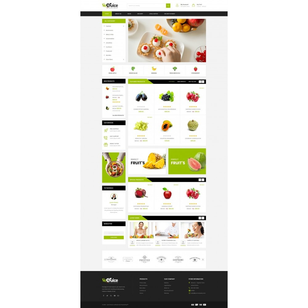 theme - Food & Restaurant - VeGuice - Organic Store - 2