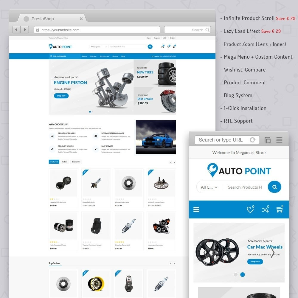 theme - Automotive & Cars - AutoPoint Store - 1