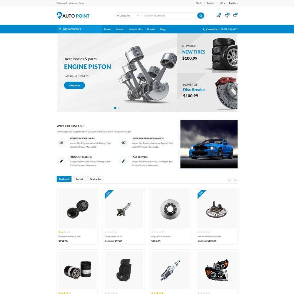 theme - Automotive & Cars - AutoPoint Store - 2