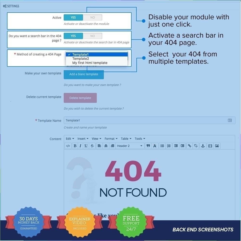 module - Personnalisation de Page - Page d'erreur 404 personnalisée - 4