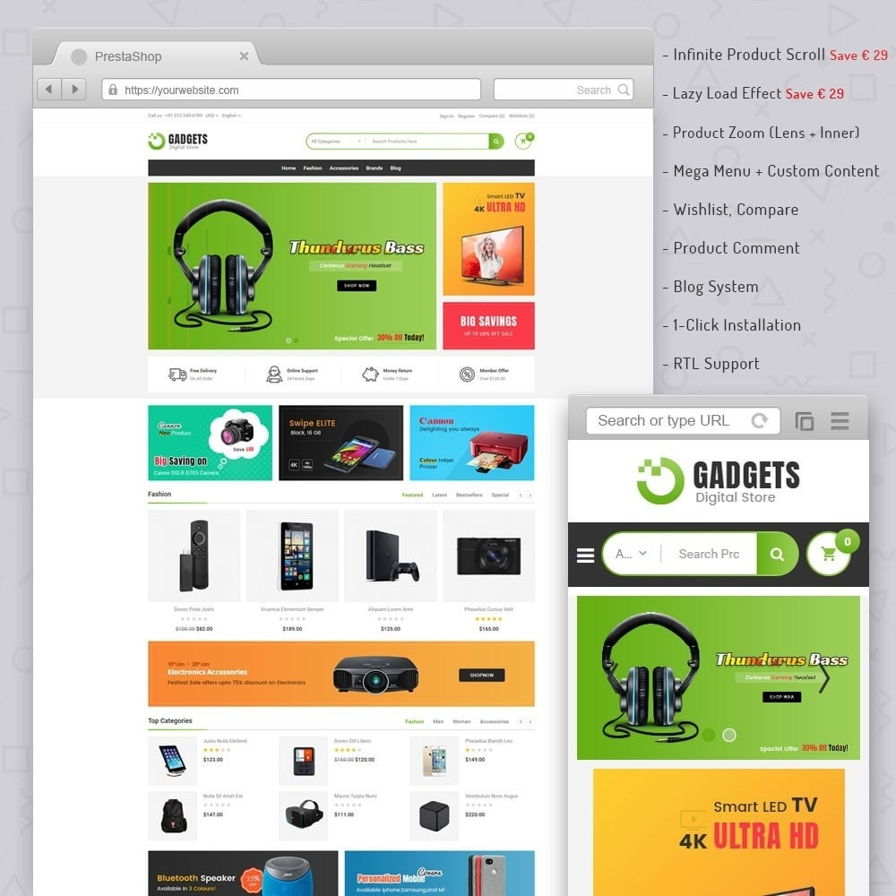 theme - Elektronica & High Tech - Gadgets Digital Store - 1