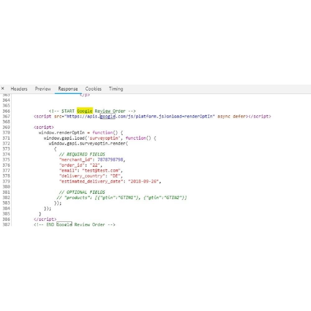 module - Opinie klientów - Google customer reviews - 6