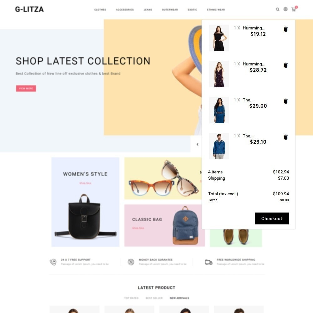theme - Fashion & Shoes - G-Litza Fashion Store - 8