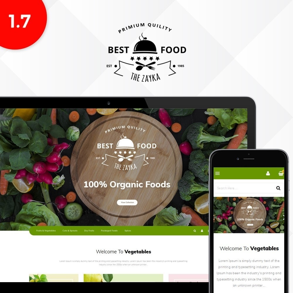 theme - Alimentos & Restaurantes - Best Food Store - 1