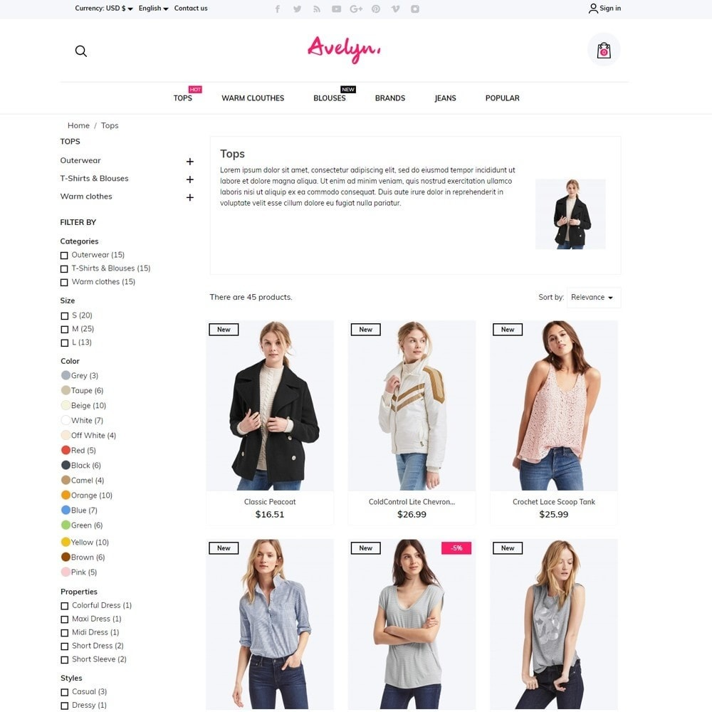 theme - Fashion & Shoes - Avelyn Fashion Store - 6