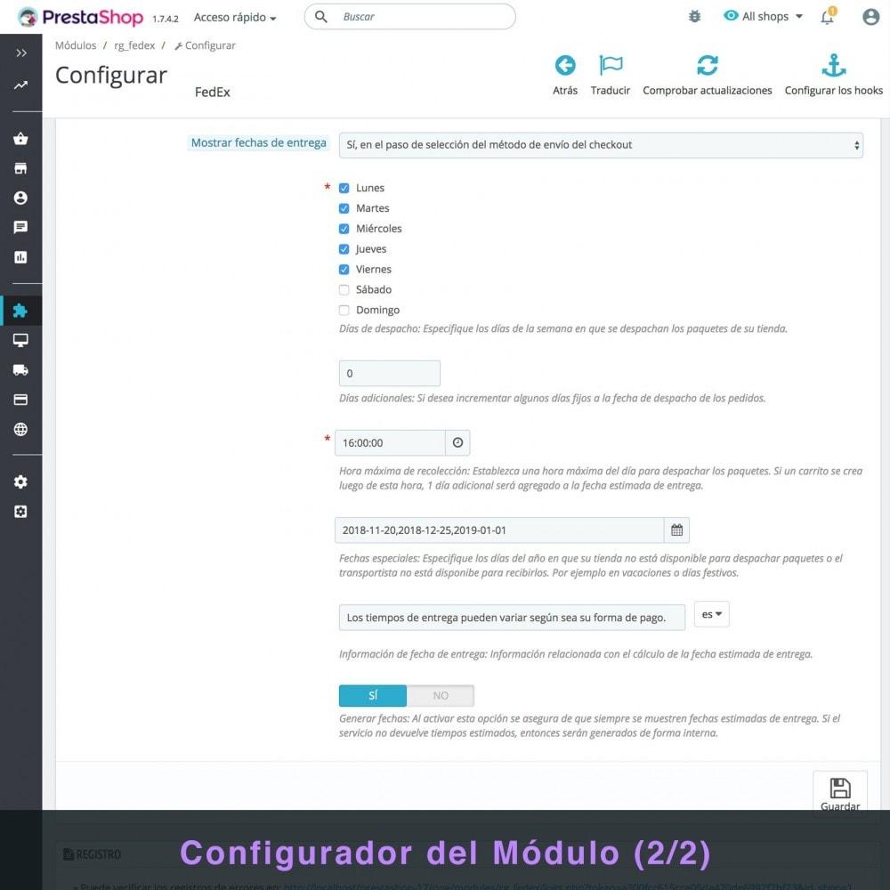 module - Transportistas - FedEx - 4