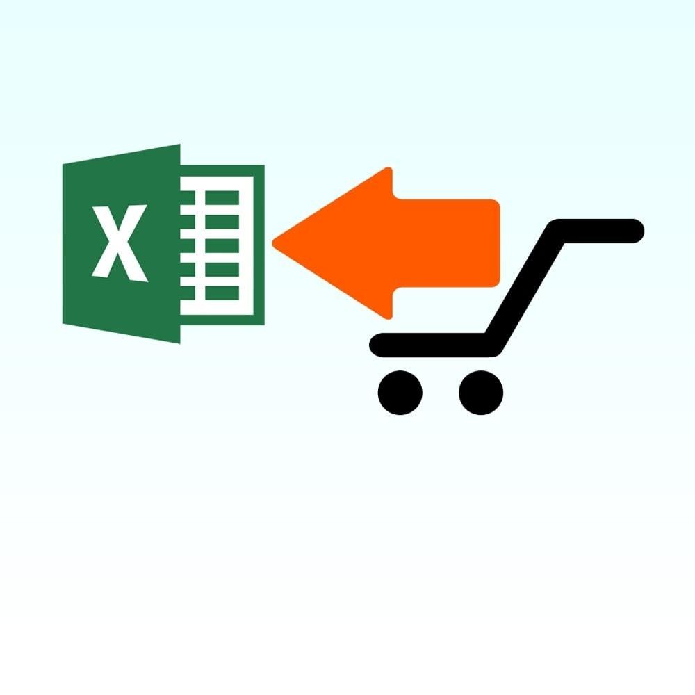 module - Import & Export de données - Module Importer un produit à partir de Microsoft Excel - 1