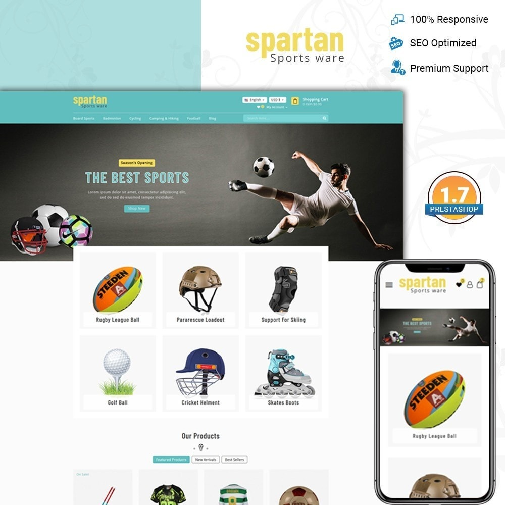 theme - Sport, Loisirs & Voyage - Spartan Sports Store - 1