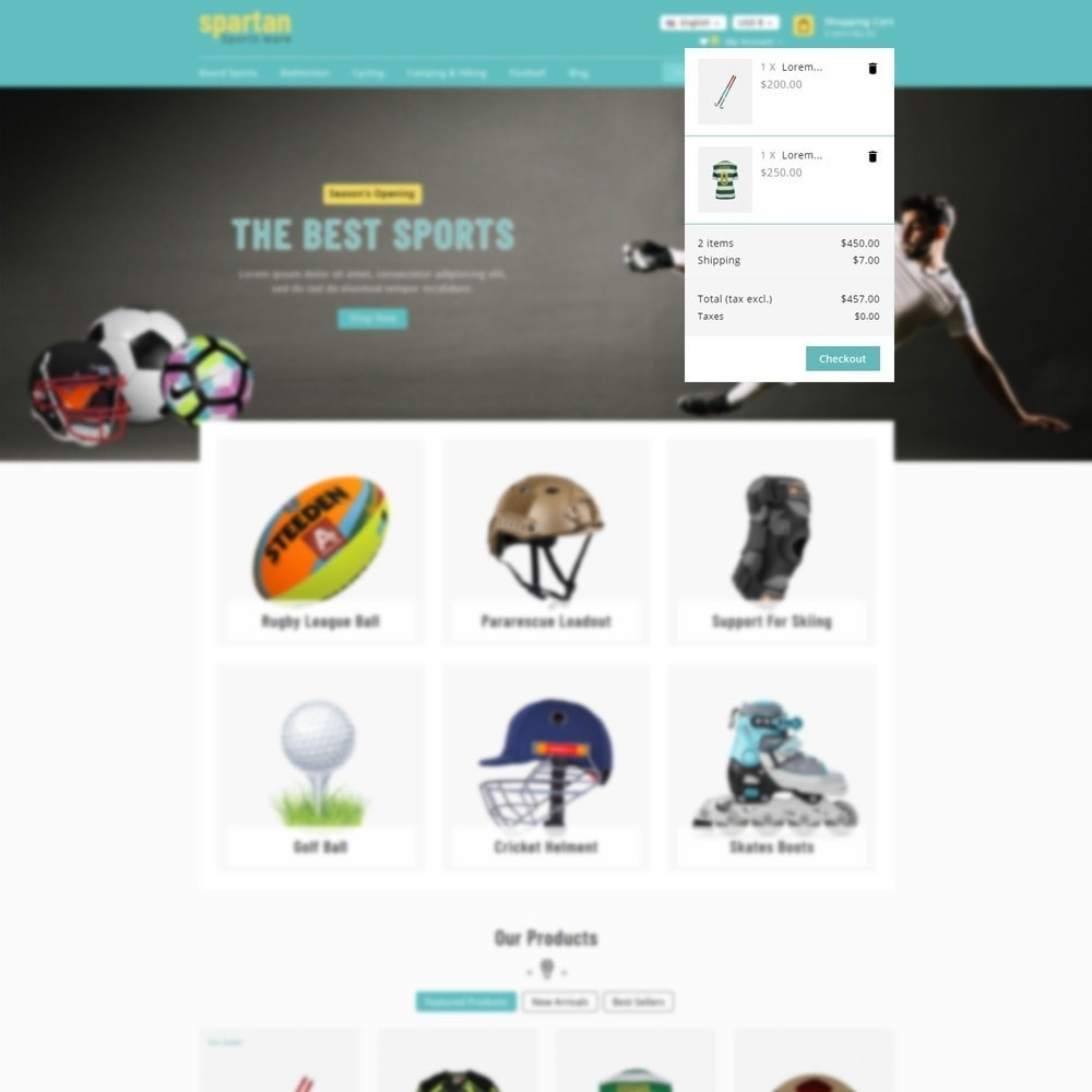 theme - Sport, Loisirs & Voyage - Spartan Sports Store - 6
