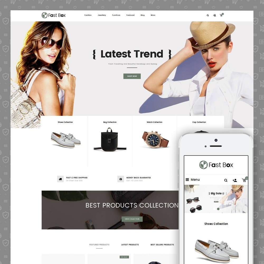 theme - Fashion & Shoes - Fast Box - Multipurpose Store - 1