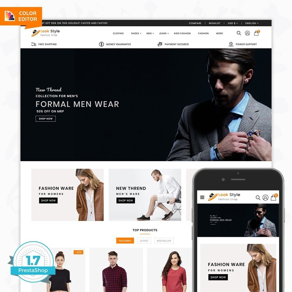 theme - Fashion & Shoes - LookStyle - The Fashion Store - 1