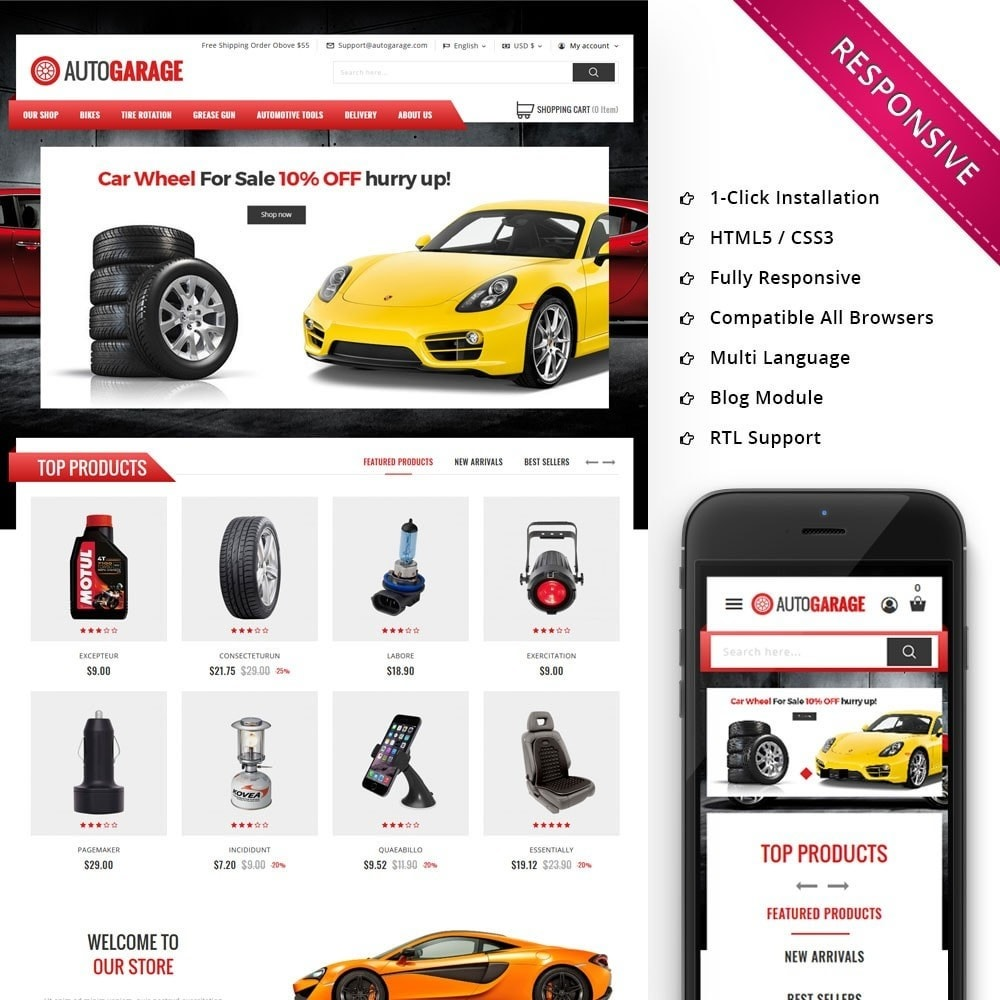 theme - Automotive & Cars - Autogarage - The Automobile Shop - 1