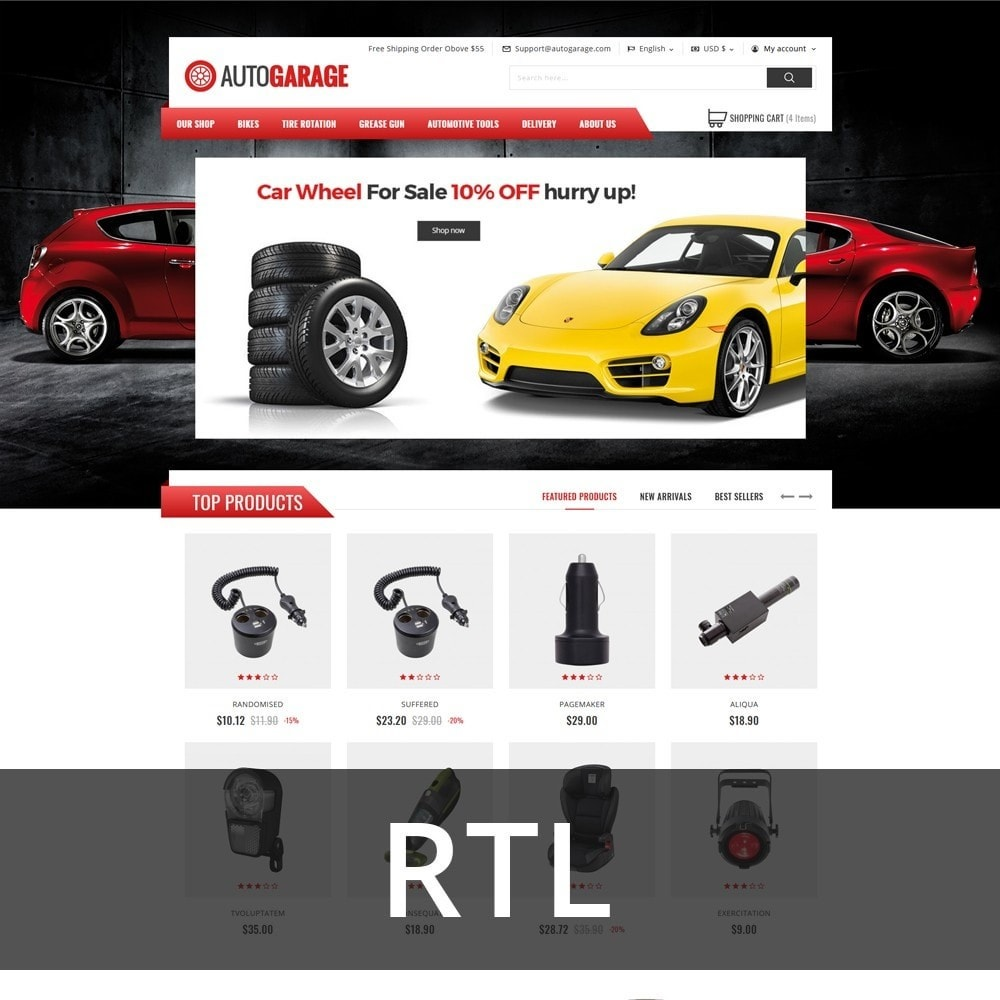 theme - Carros & Motos - Autogarage - The Automobile Shop - 3