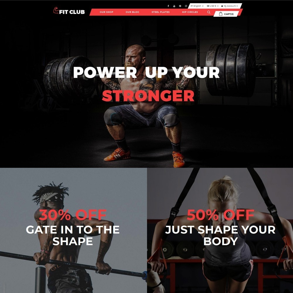 theme - Health & Beauty - Fitclub - Online Gym Store - 2