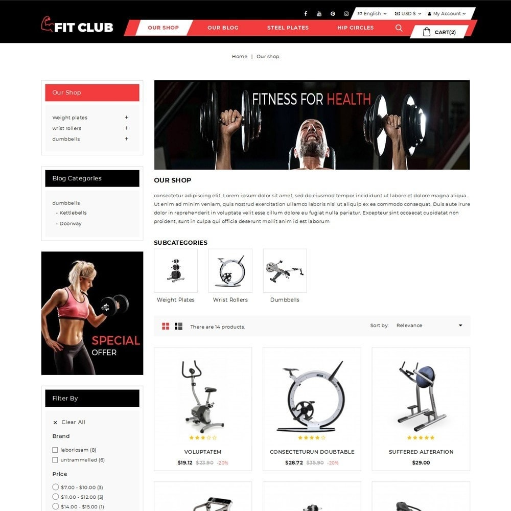 theme - Health & Beauty - Fitclub - Online Gym Store - 4