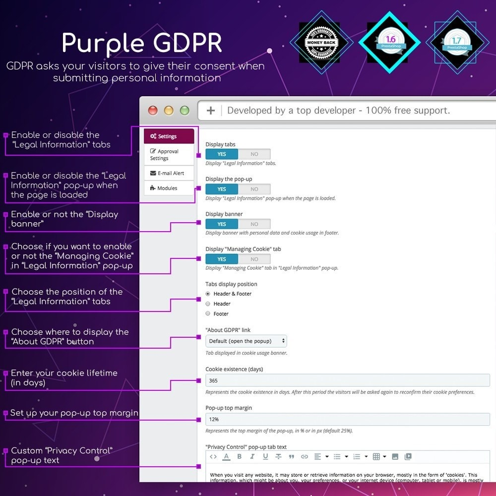 module - Marco Legal (Ley Europea) - Purple GDPR - 1