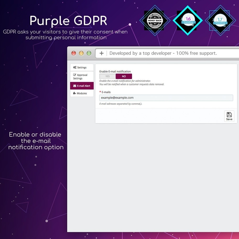 module - Marco Legal (Ley Europea) - Purple GDPR - 3