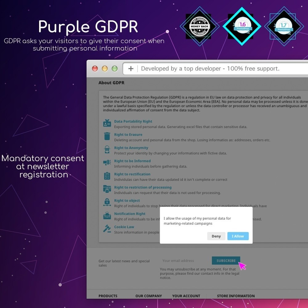 module - Marco Legal (Ley Europea) - Purple GDPR - 5