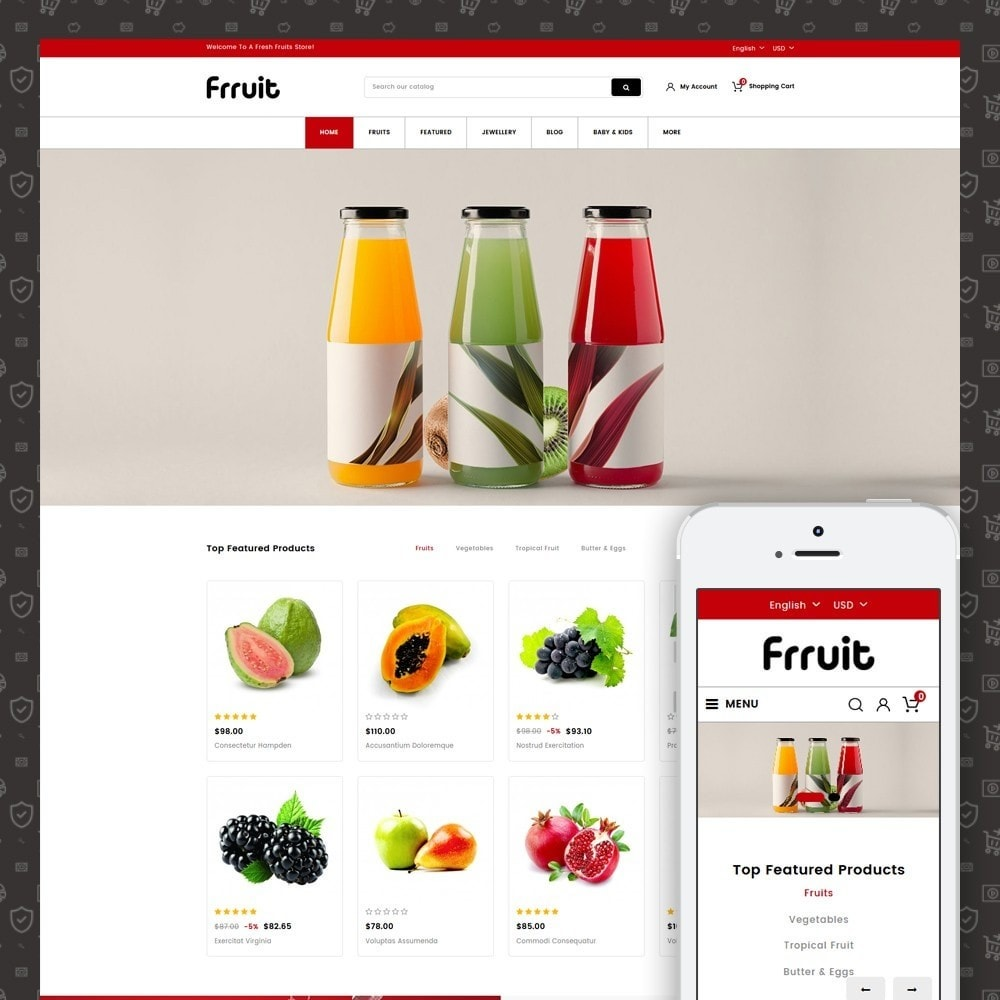 theme - Alimentation & Restauration - Fresh Fruits Store - 1