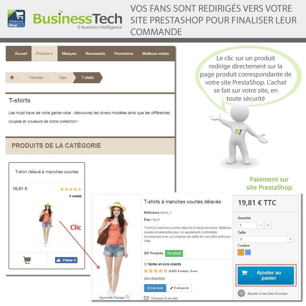 module - Produits sur Facebook & réseaux sociaux - Advanced Shop for Fan Page - 13