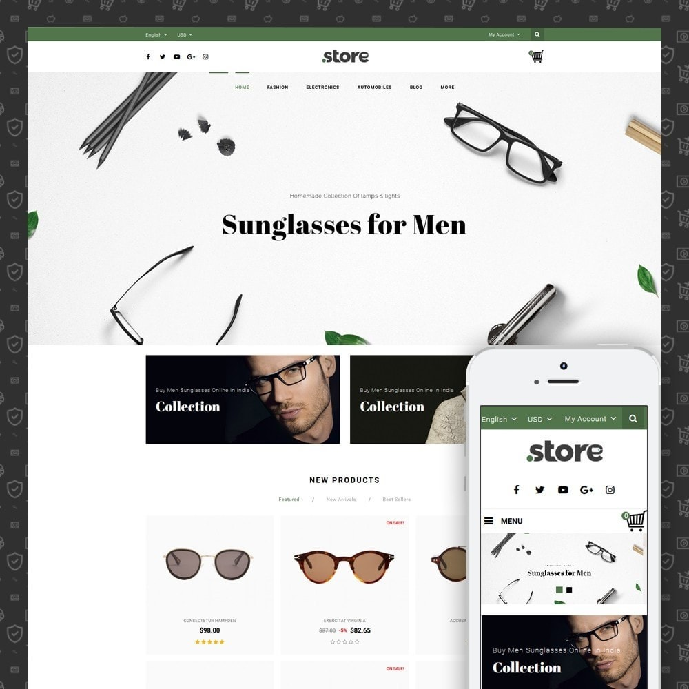 theme - Fashion & Shoes - Eye Glasses Store - 1