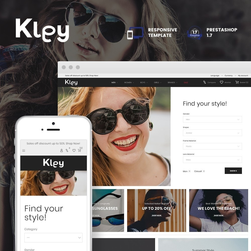 theme - Jewelry & Accessories - Kley - Sunglasses Store - 1