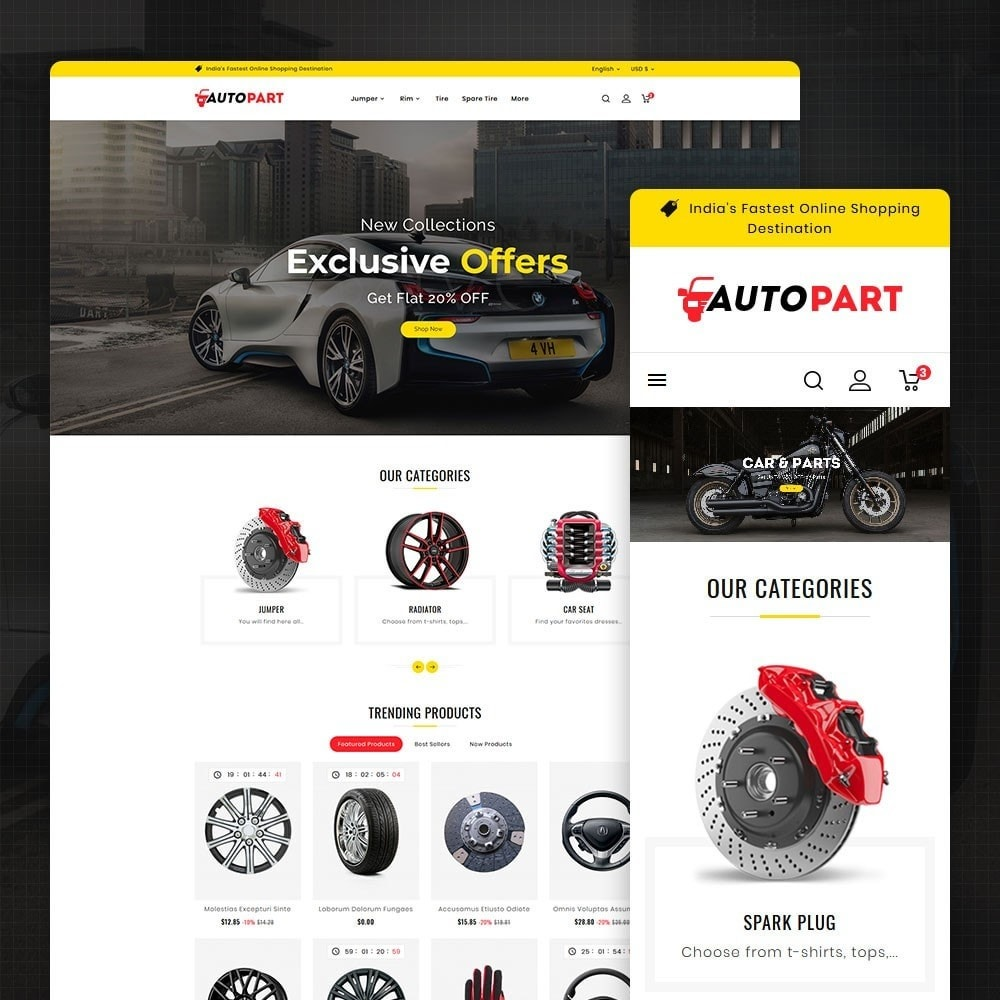 theme - Automotive & Cars - Auto Parts & Garage - 1