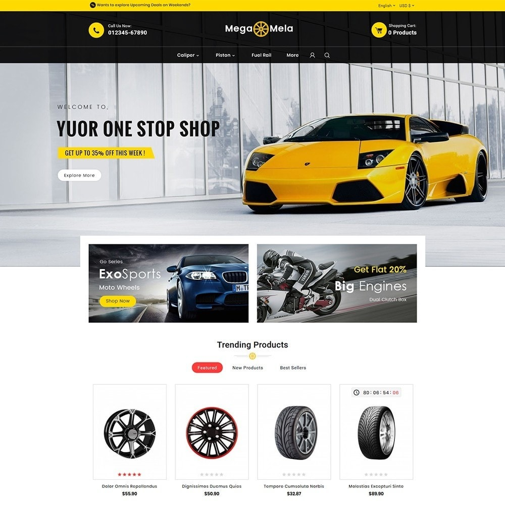theme - Automotive & Cars - Auto Mega Mela Parts - 2
