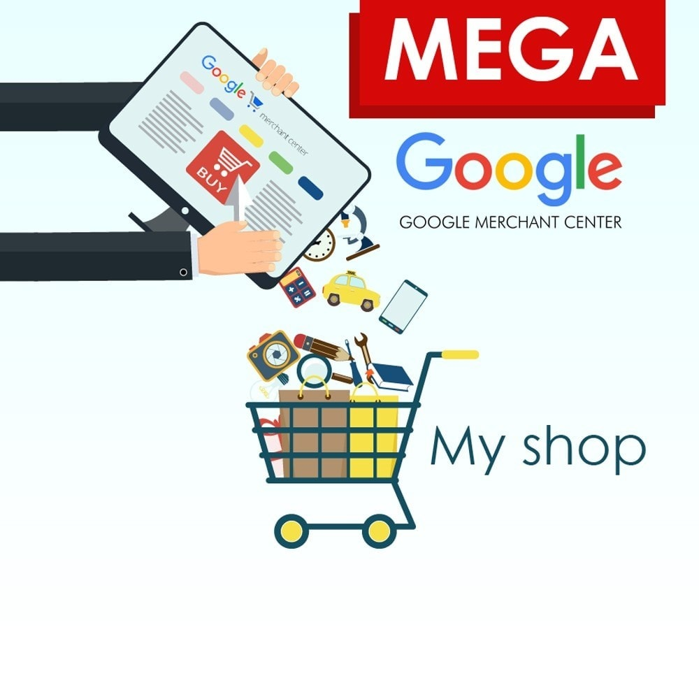 module - Comparateurs de prix - SeoSA Mega Google Merchants (Google Shopping) - 1